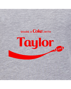 Customize Your Own - Share A Coke Football Ribbon Design