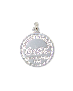 Coca-Cola Bottle Cap Silver Charm