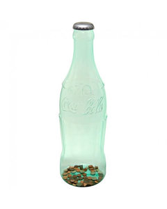 Coca-Cola Green Contour Bottle Coin Bank - 22""