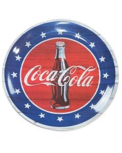 "Coca-Cola Americana Melamine Dinner Plate - 10.5"""