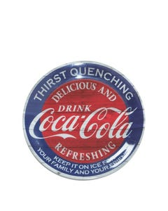 "Coca-Cola Americana Melamine Dessert Plate - 9"""