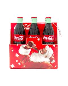 Coca-Cola Mini 6Pk W/Santa Ornament