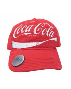 Coca-Cola Script Baseball Cap with Bottle Opener