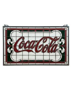 Coca-Cola Script Suncatcher - 27x16