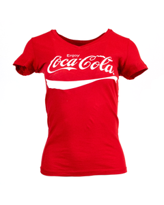 Coca-Cola Script Women's V-Neck Tee
