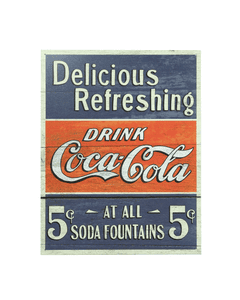 Coca-Cola Delicious Refreshing Metal Sign