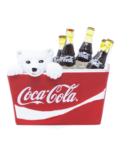 Coca-Cola Polar Bear in Cooler Ornament