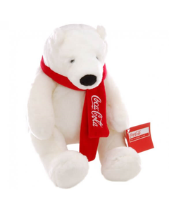 Coca-Cola Polar Bear with Scarf Plush - 10""