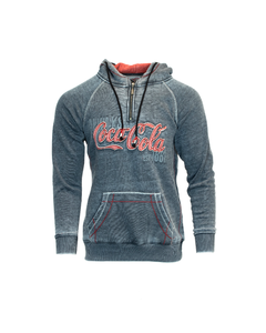 Coca-Cola Script Burnout Unisex Half Zip Hoodie
