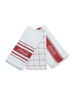 Coca-Cola Script Kitchen Towels - Set of 3