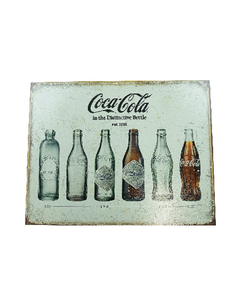 Coca-Cola Bottle Evolution Vintage Metal Sign