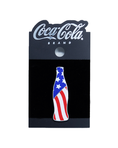 Coca-Cola USA Flag Bottle Pin