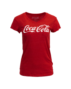 Coca-Cola Script Women's Tri-Blend V-Neck Tee