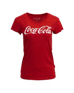 Coca-Cola Script Women's Tri-Blend V-Neck Tee