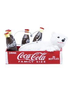 Coca-Cola Polar Bear in Crate Ornament