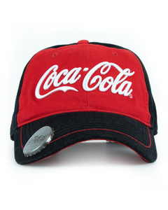 Coca-Cola Script Denim Baseball Cap with Bottle Opener