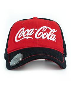 Coca-Cola Script Denim Baseball Cap W/Opener