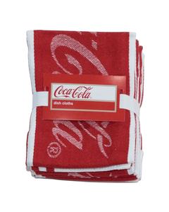 Coca-Cola Script Dishcloths - Set of 4