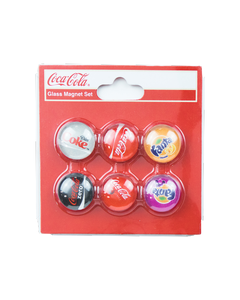 Coca-Cola Multi Brands Glass Magnet Set