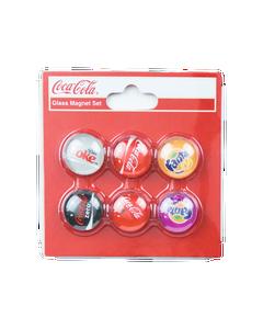 Coca-Cola Multi Brands Glass Magnet Set