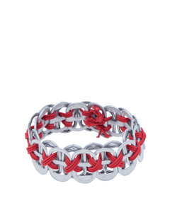 PCF Narrow Ring-Pull Bracelet Red