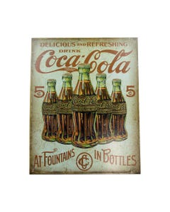 Coca-Cola Bottles Retro Metal Sign