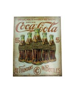 Coca-Cola Bottles Retro Metal Sign