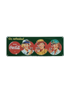 Coca-Cola Military Beauties Metal Sign