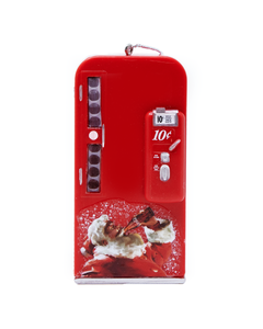 Coca-Cola Vending Machine W/Santa Ornament