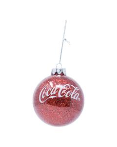 Coca-Cola Glitter Ball Ornament