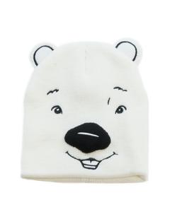 Coca-Cola Polar Bear Face & Ears Knit Beanie