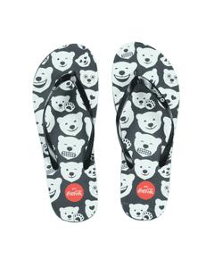 Coca-Cola Polar Bear Emoji Women's Flip Flops
