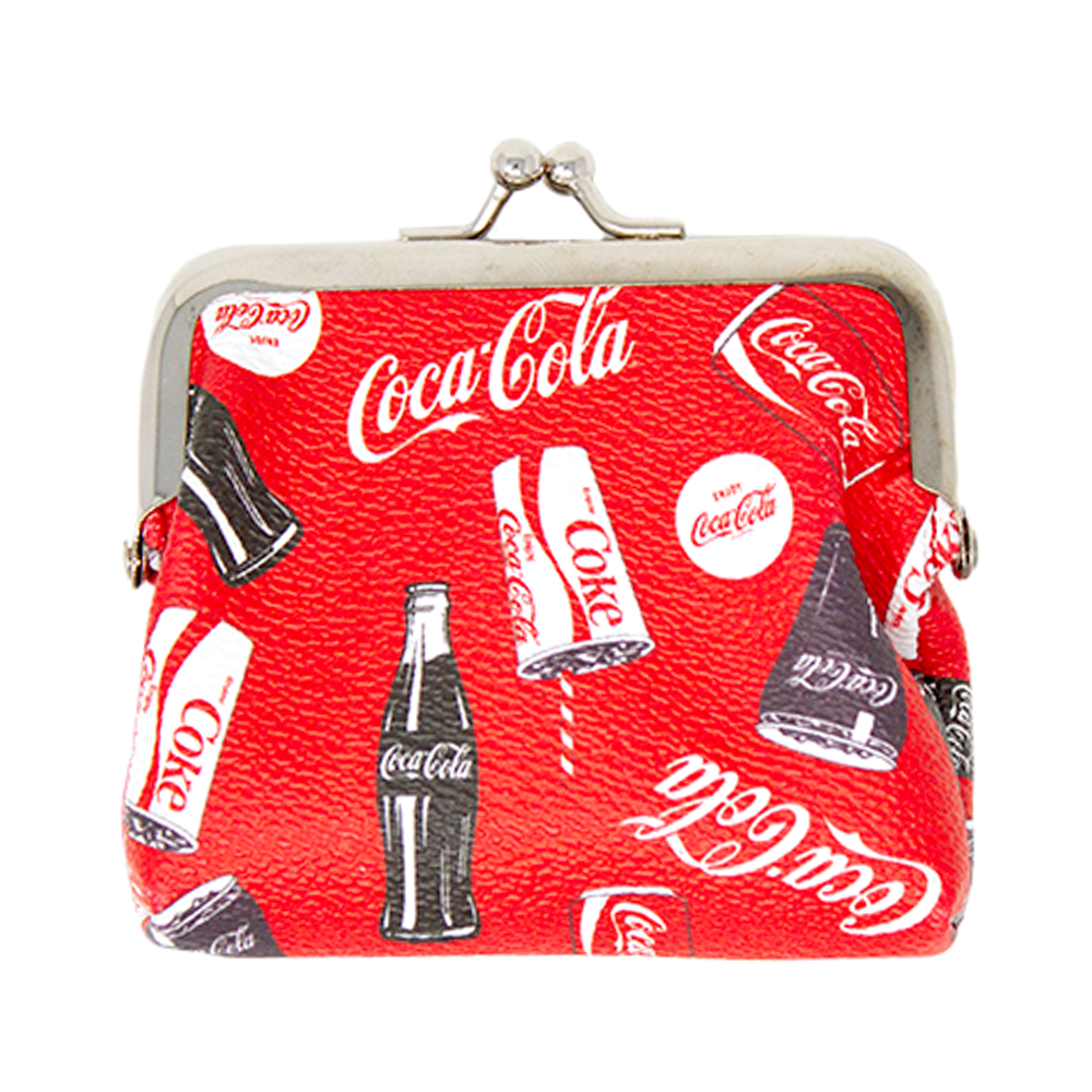 wallet wallet purse embroidered leather COK-WLT03 Camel Coca-Cola