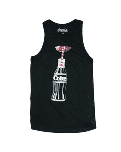 Coca-Cola Lips & Bottle Foil Women's Tank