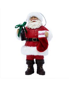 Coca-Cola Santa W/Stocking Ornament