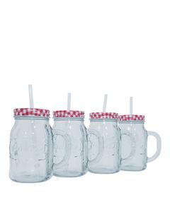 Coca-Cola Mason Jar Tumbler - Set of 4 20oz