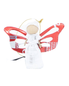 Coca-Cola Can Angel Wings Ornament