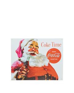 Coca-Cola Santa Metal Sign