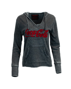 Coca-Cola Women's Pullover V-Neck Hoodie