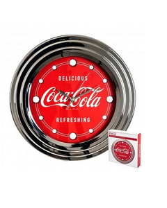 Coca-Cola Delicious/Refreshing Chrome Clock