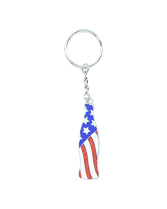 Coca-Cola USA Flag Bottle Keychain