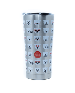 Coca-Cola Polar Bear Emoji Stainless Steel Tervis Tumbler - 20oz