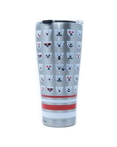 Coca-Cola Polar Bear Emoji Stainless Steel Tervis Tumbler - 30oz