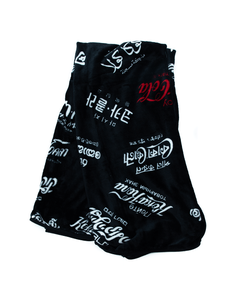 Coca-Cola Languages Black Plush Blanket