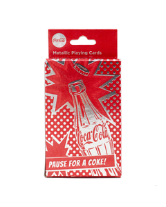 Coca-Cola Metallic Red Pop Playing Cards