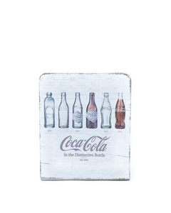 Coca-Cola Bottle Evolution Wood Napkin Holder