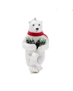 Coca-Cola Polar Bear W/Cub & Bottles Ornament