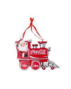 Coca-Cola Santa In Train Ornament