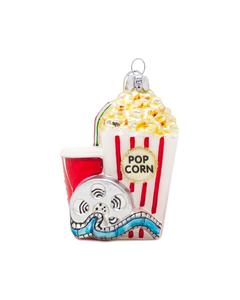 Coca-Cola & Popcorn Glass Ornament