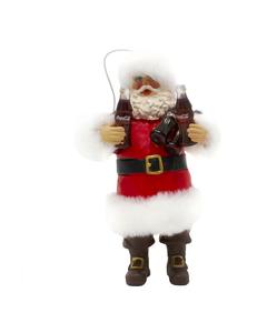 Coca-Cola Santa Holding Bottles Ornament